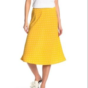 Know One Cares Mustard Yellow Polka Dot Skirt XL